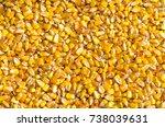 heap of corn seeds or maize in... | Shutterstock . vector #738039631