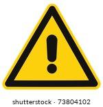 blank other danger and hazard...   Shutterstock . vector #73804102