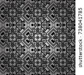 seamless geometric vector... | Shutterstock .eps vector #738041785