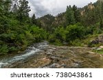 spearfish canyon in the black... | Shutterstock . vector #738043861