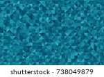 dark blue vector triangle... | Shutterstock .eps vector #738049879