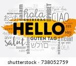 hello word cloud in different... | Shutterstock .eps vector #738052759