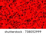 dark red vector shining... | Shutterstock .eps vector #738052999