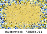light blue  yellow vector... | Shutterstock .eps vector #738056011
