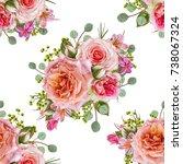 floral seamless pattern. flower ... | Shutterstock . vector #738067324