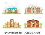 vector cartoon style set of... | Shutterstock .eps vector #738067705