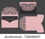 tri fold pocket envelope. laser ...   Shutterstock .eps vector #738068407