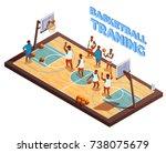 basketball isometric... | Shutterstock .eps vector #738075679