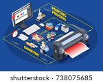 printing house polygraphy...   Shutterstock .eps vector #738075685