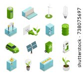 renewable green energy sources... | Shutterstock .eps vector #738075697
