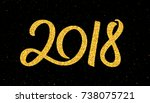 happy new year 2018 greeting...   Shutterstock .eps vector #738075721