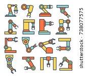 indastrial robotic manipulator... | Shutterstock .eps vector #738077575