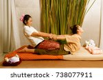 spa and massage   thai massage... | Shutterstock . vector #738077911
