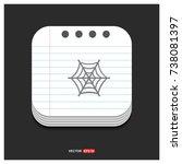 halloween spider web icon | Shutterstock .eps vector #738081397