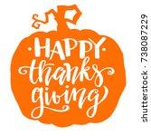 happy thanksgiving  autumn... | Shutterstock .eps vector #738087229