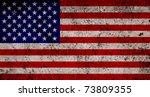 grungy usa flag | Shutterstock . vector #73809355