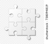 puzzle piece business... | Shutterstock .eps vector #738094819
