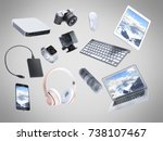 collection of consumer... | Shutterstock . vector #738107467