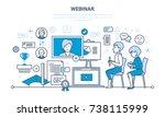 modern digital technology and... | Shutterstock . vector #738115999