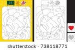 worksheet for practicing letter ... | Shutterstock .eps vector #738118771