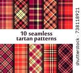 set of seamless tartan pattern | Shutterstock .eps vector #738118921