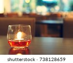 closeup shot of a burning... | Shutterstock . vector #738128659