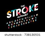 vector of stylized brushy font... | Shutterstock .eps vector #738130531