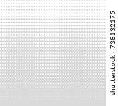 gray gradient dots background.... | Shutterstock .eps vector #738132175