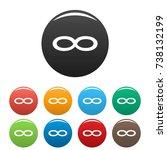 infinity symbol icons set. ... | Shutterstock . vector #738132199