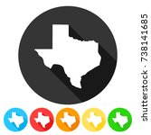 texas usa symbol icon round... | Shutterstock .eps vector #738141685