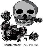 halloween festival skull | Shutterstock .eps vector #738141751
