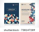 multipurpose flyer template... | Shutterstock .eps vector #738147289