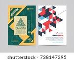 abstract brochure template... | Shutterstock .eps vector #738147295