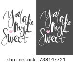 you are my sweet. motivational ... | Shutterstock .eps vector #738147721