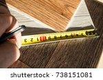 samples of linoleum | Shutterstock . vector #738151081