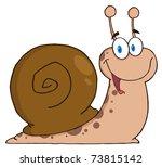 snail cartoon mascot character | Shutterstock . vector #73815142