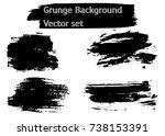 grunge backgrounds vector set | Shutterstock .eps vector #738153391