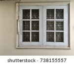 old white window and... | Shutterstock . vector #738155557