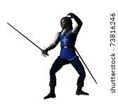 rendered model in musketeer or... | Shutterstock . vector #73816246