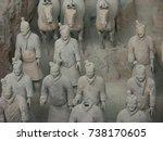 xian china  12 august 2005  the ...   Shutterstock . vector #738170605