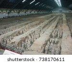 xian china  12 aout 2005  the...   Shutterstock . vector #738170611