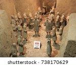 xian china  12 august 2005  the ...   Shutterstock . vector #738170629