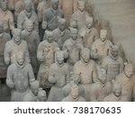 xian china  12 august 2005  the ...   Shutterstock . vector #738170635