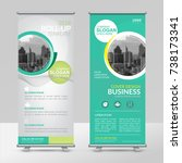 business roll up design...   Shutterstock .eps vector #738173341