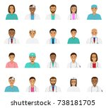 doctors and nurses characters... | Shutterstock . vector #738181705