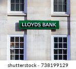 Small photo of October 8, 2017 London, England. Lloyds Bank logo at the new fetter lane branch.
