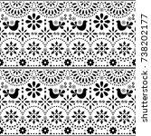 mexican folk art vector... | Shutterstock .eps vector #738202177