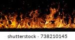 texture of fire on a black... | Shutterstock . vector #738210145
