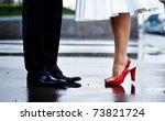 Feet In Footwear Of The Groom...