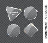 vector realistic transparent... | Shutterstock .eps vector #738220681